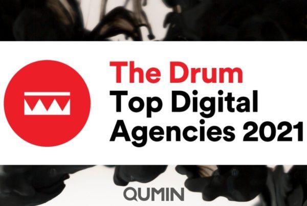 Qumin in The Drum's Top Digital Agencies 2021